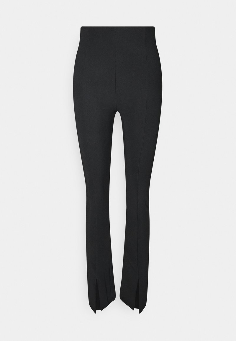 Gina Tricot - MY FRONT SLIT TROUSERS - Trousers - black