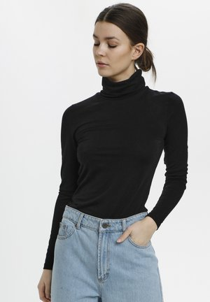 SIRIN ROLLNECK - Long sleeved top - black