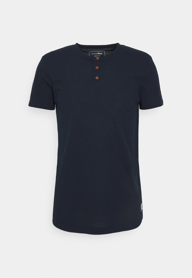 TOM TAILOR DENIM - HENLEY - Jednoduché triko - sky captain blue