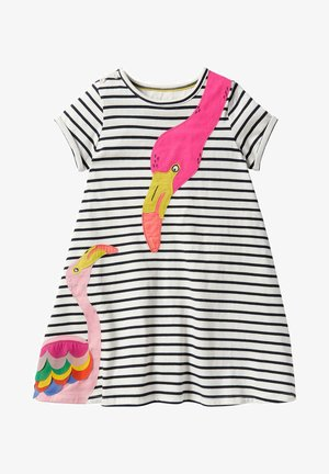 Day dress - naturweiß/segelblau, flamingo