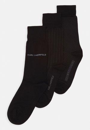 3 PACK - Strumpor - black