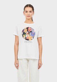 Stradivarius - MIT PRINT  - Print T-shirt - white - 0