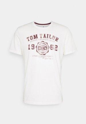 LOGO TEE - T-shirt med print - coconut cream