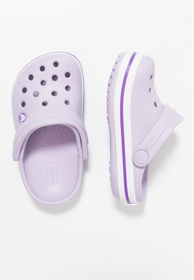 CROCBAND RELAXED FIT - Pool slides - lavender/neon purple