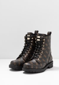 Guess - TALISI - Lace-up ankle boots - brown/ocra - 4