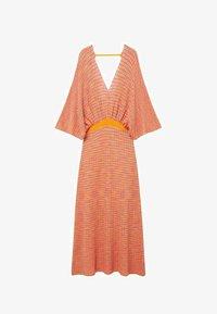 Mango - FAIRY - Strikket kjole - orange - 4