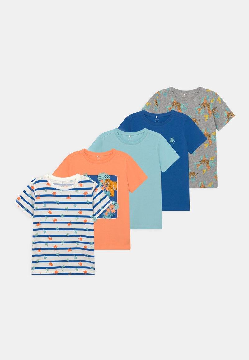 Name it - NKMBILLAZ 5 PACK - Print T-shirt - grey melange