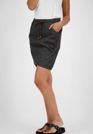 LUCYAK  - Jupe portefeuille - black denim