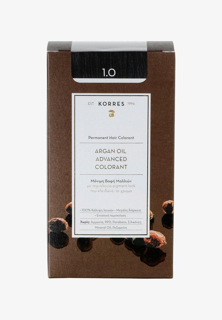 Korres - ARGAN OIL ADVANCED COLORANT - Hair colour - 01 black