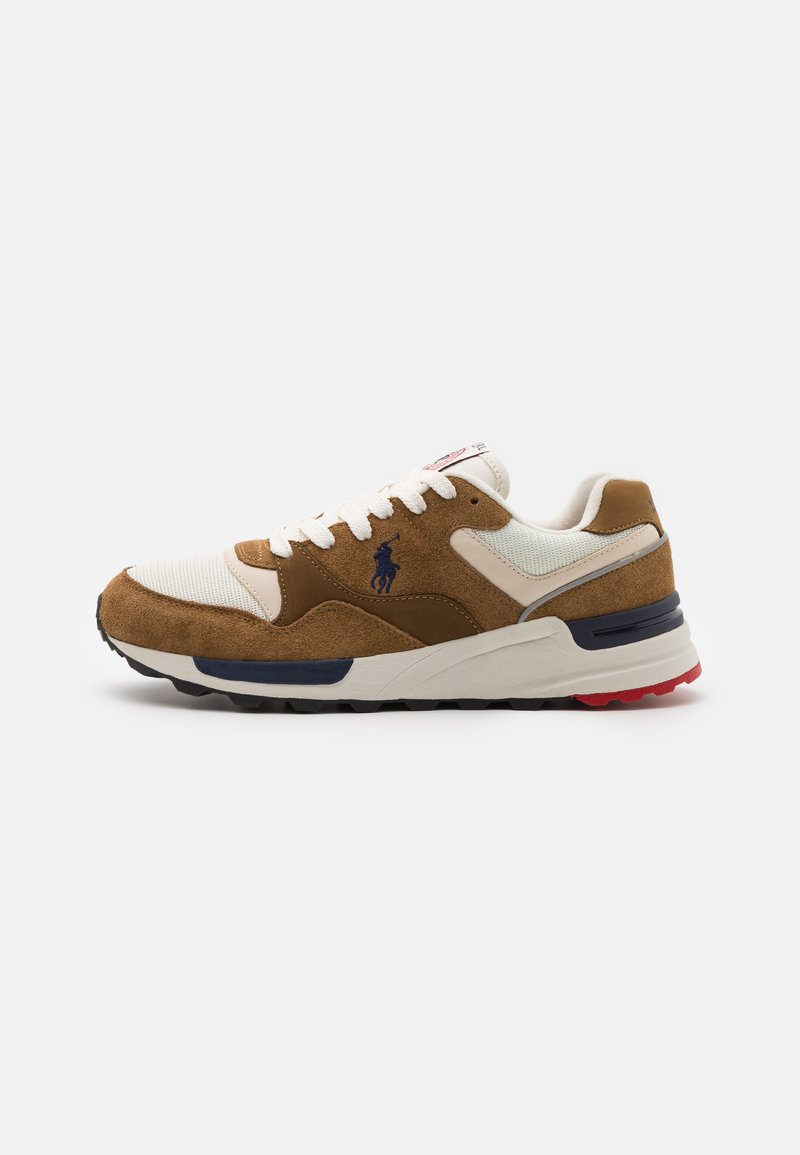 Polo Ralph Lauren - TRCKSTR PONY UNISEX - Sneakersy niskie - tan/creme/navy
