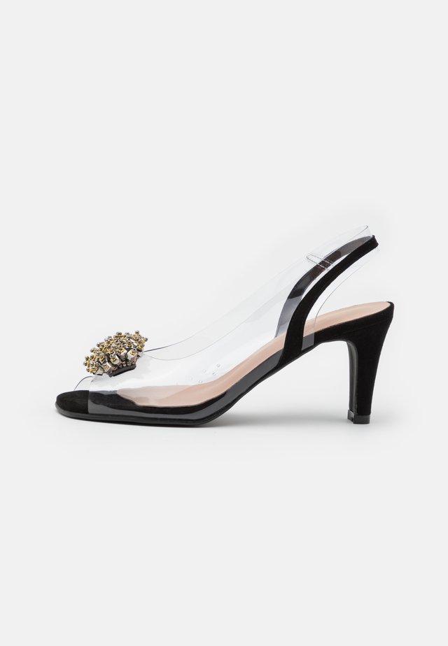 ARIES - Sandaalit nilkkaremmillä - black