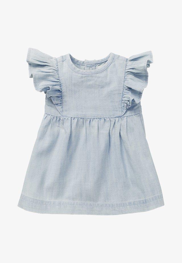 Korte jurk - light blue denim