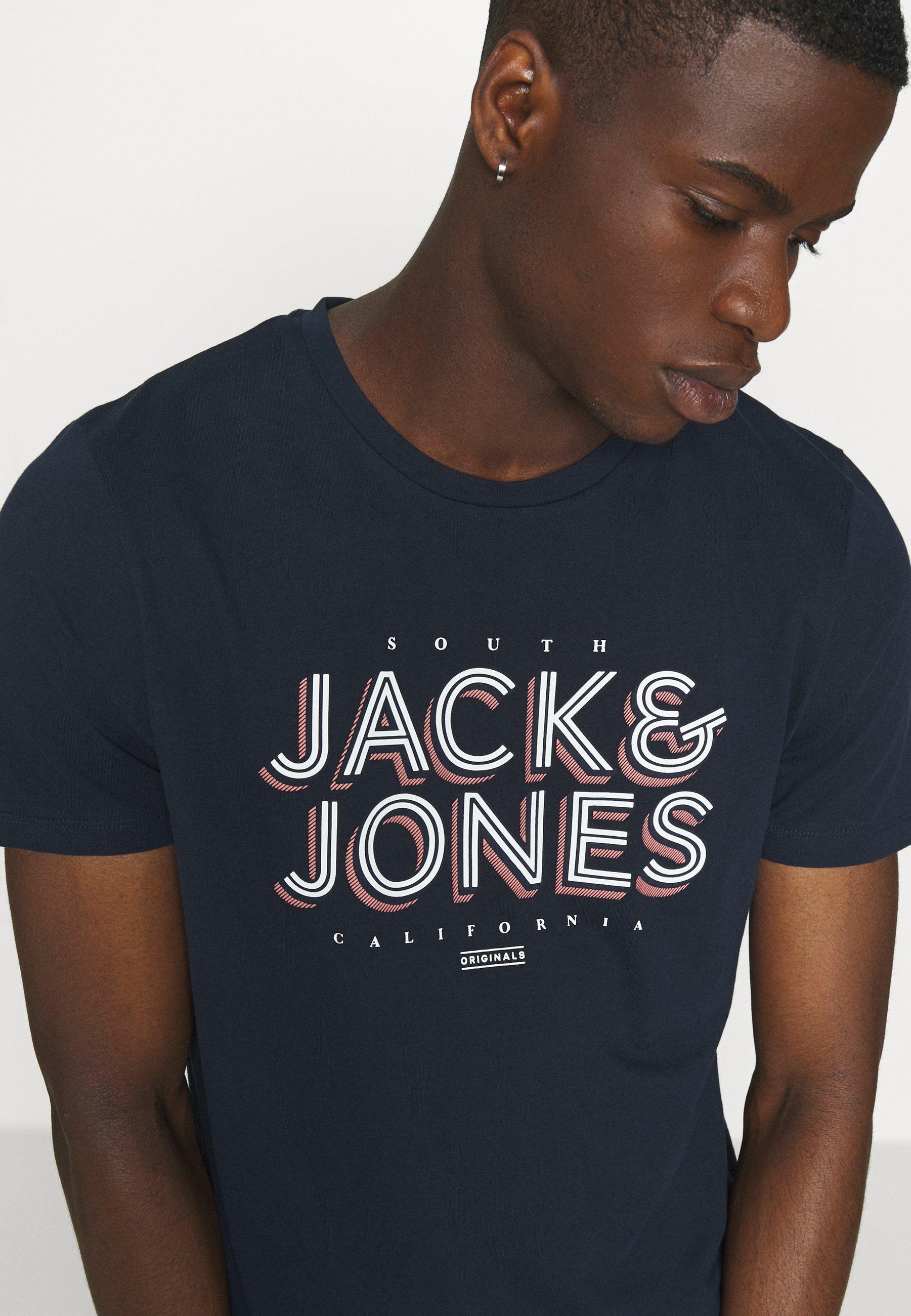 Jack & Jones JORVENICEBEACH TEE CREW - Print T-shirt - navy blazer NjF4D