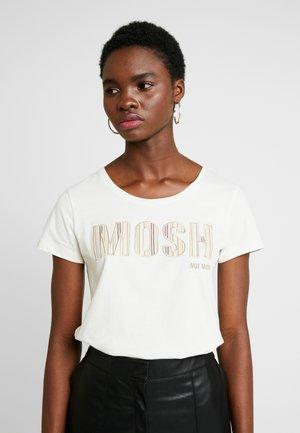 ARDEN LOGO EMBROIDERY TEE - Print T-shirt - ecru
