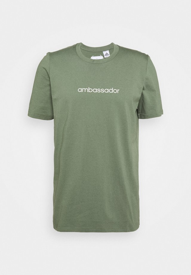 CROSS - T-shirt imprimé - natural green