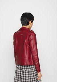 Deadwood - RIVER - Leather jacket - burgundy - 2
