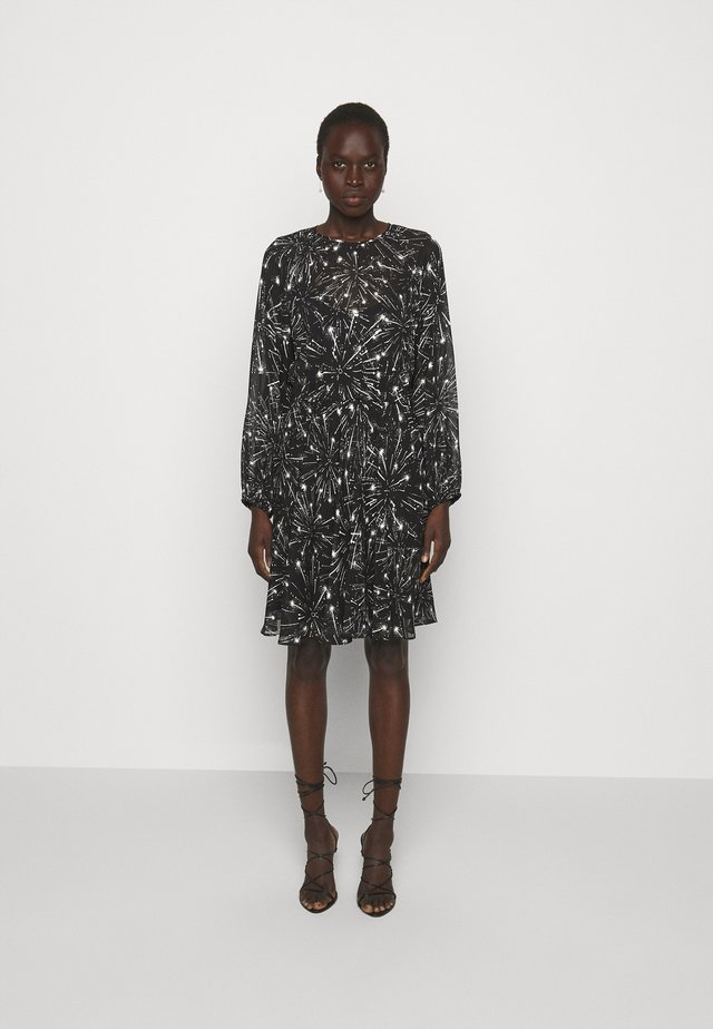 RAFIA - Korte jurk - black