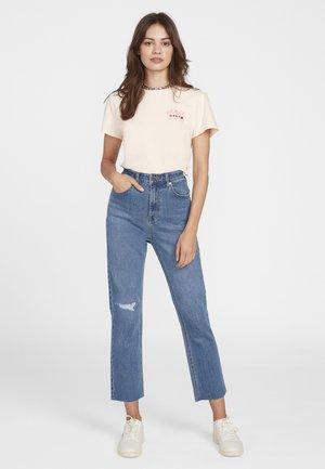 STONED STRAIGHT DENIM PANT - Straight leg jeans - blue