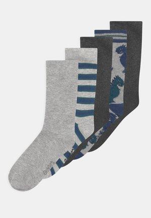 DINO 5 PACK - Socks - grey