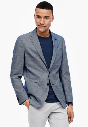 Blazer jacket - dark blue dobby