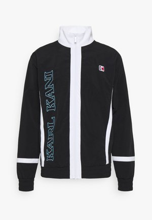 RETRO BLOCK TRACK JACKET - Summer jacket - black