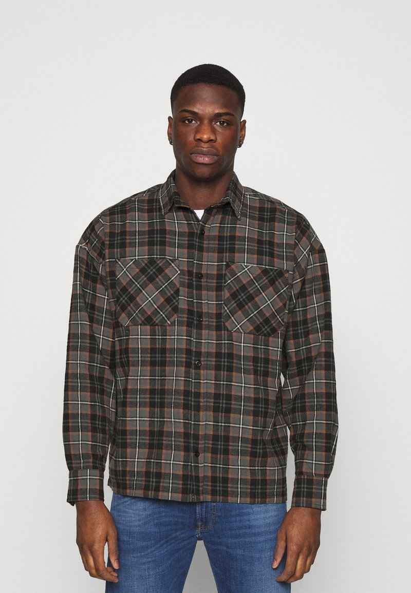 Good For Nothing - CHECK - Shirt - brown