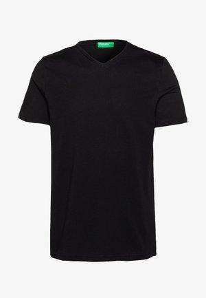 BASIC VNECK - Basic T-shirt - black