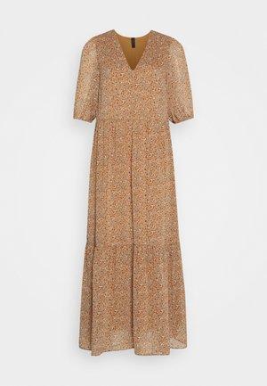 YASANEMONE LONG DRESS  - Maxi dress - tawny brown/anemone