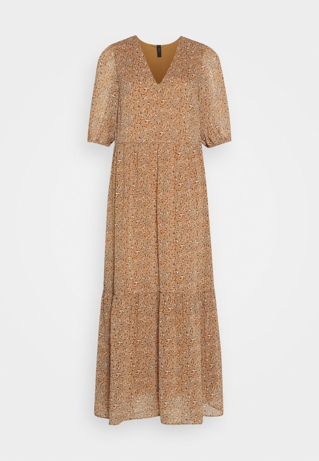 YASANEMONE LONG DRESS  - Maxikjole - tawny brown/anemone