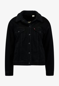 Levi's® - SHERPA TRUCKER - Denim jacket - forever black - 5