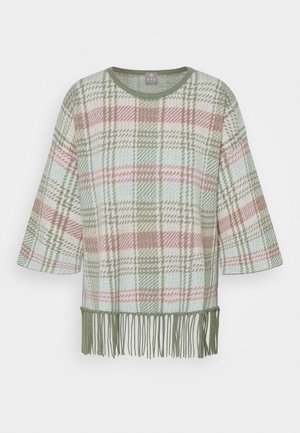 PONCHO - Strikpullover /Striktrøjer - light green