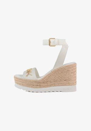 Sandalen met enkelbandjes - off white