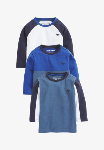 3 PACK COLOURBLOCK - Long sleeved top - blue