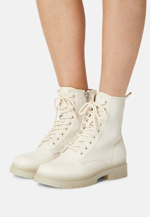 Lace-up ankle boots - ivory
