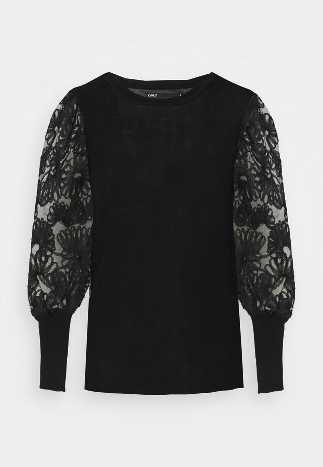 ONLFLORA TALL - Strickpullover - black