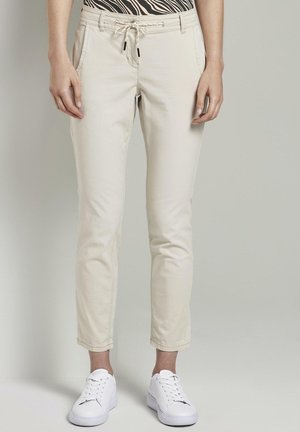 TAPERED RELAXED - Pantalones - dusty alabaster