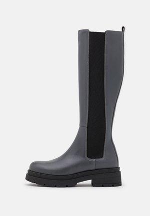 TEMPAS - Platform boots - grey