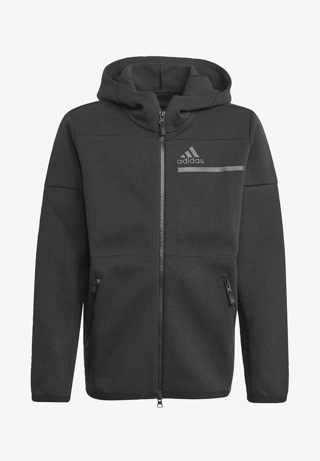 B Z.N.E. FULL ZIP HD Z.N.E SPORTS LOOSE TRACK TOP HOODIE - Huvtröja med dragkedja - black