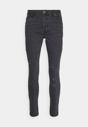 SHEERANCHAR - Jeansy Skinny Fit - charcoal wash