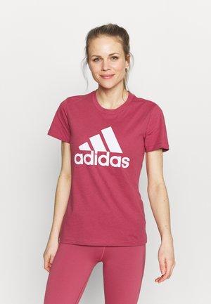 T-shirt z nadrukiem - wild pink/white