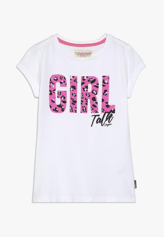 HILANY - T-shirts print - real white