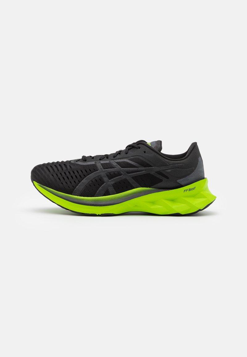 ASICS - NOVABLAST - Neutral running shoes - black/lime zest