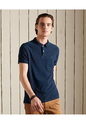 VINTAGE DESTROY  - Polo shirt - rinsed indigo