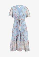 FLORAL MIDI DRESS - Shirt dress - blue
