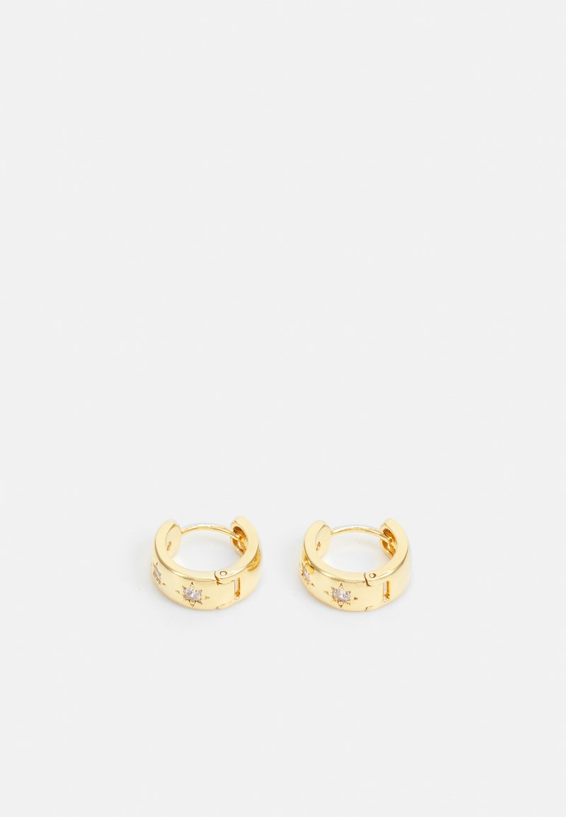 Orelia - CHUNKY STARBURST HUGGIE HOOP - Earrings - gold-coloured