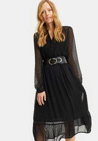 WE Fashion - MET DESSIN - Cocktail dress / Party dress - black - 1