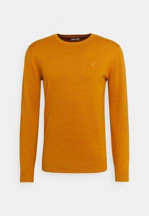 BASIC CREW NECK - Jumper - rusty orange burned melange