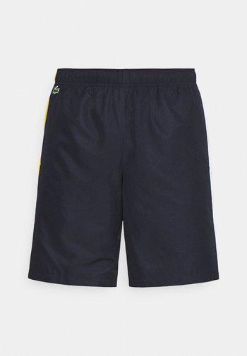 TENNIS SHORT BLOCK - Korte broeken - navy blue/broom white
