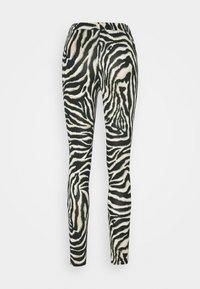 Kaffe - KAANIMA  - Leggings - Trousers - black/beige - 1
