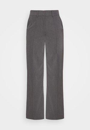 BACK SLIT SUIT PANTS - Trousers - grey